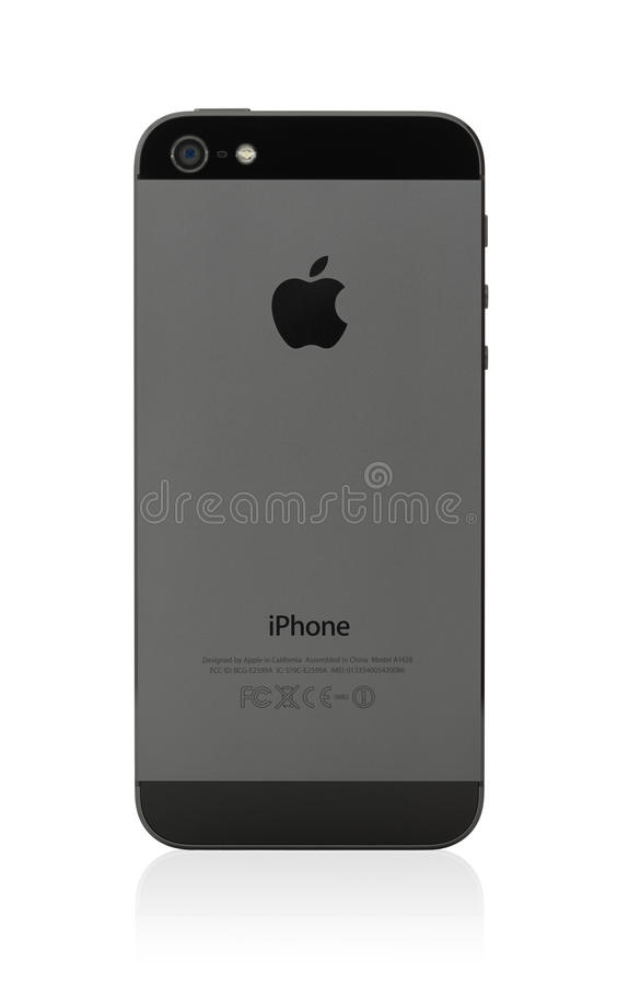 Ny bak för Apple iPhone 5 arkivbild