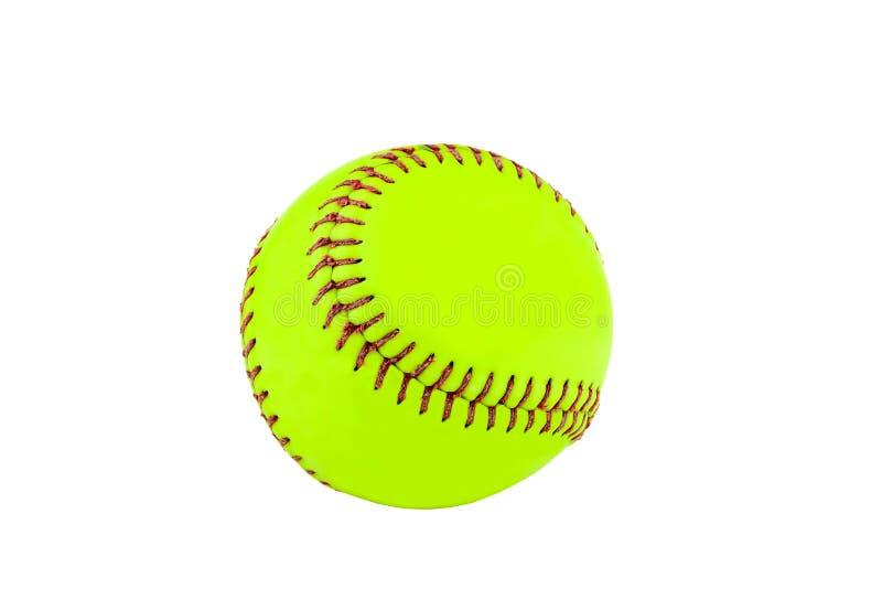 Ny baseball p? vit bakgrund royaltyfri foto