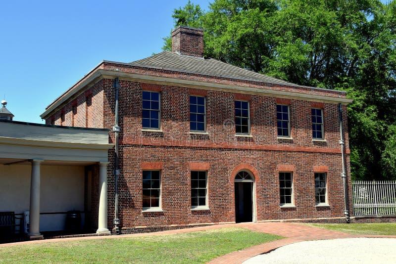 Ny Bern, NC: Tryon slottstall 1770 royaltyfri foto