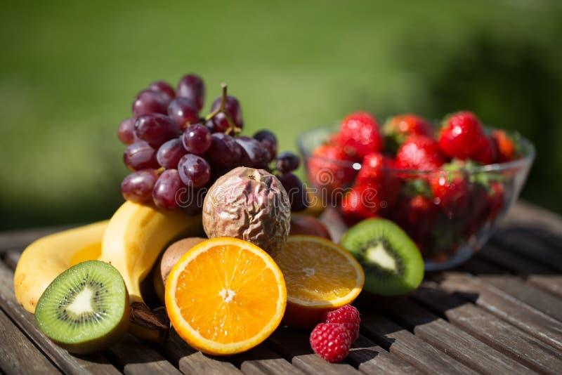 Ny blandad frukt för sädesslag eller smoothie royaltyfria bilder