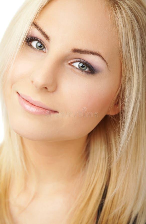 ny blond clean kvinnlig royaltyfria foton