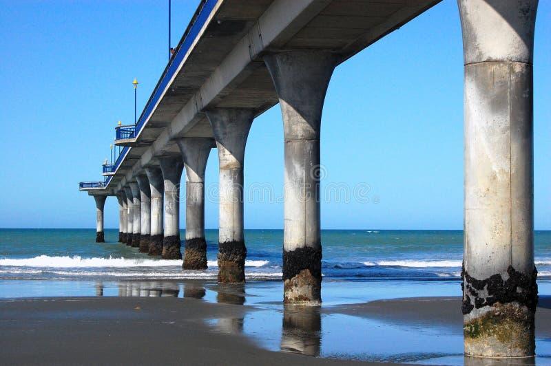 Ny Brighton pir Christchurch fotografering för bildbyråer