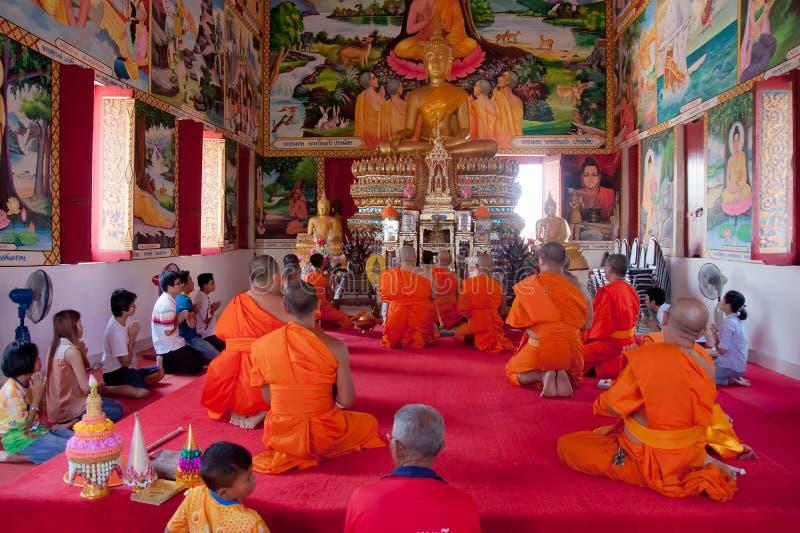 Ny buddistisk munk arkivbilder