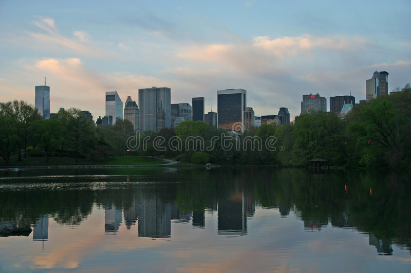 NY buildings from Central Park stock photography
