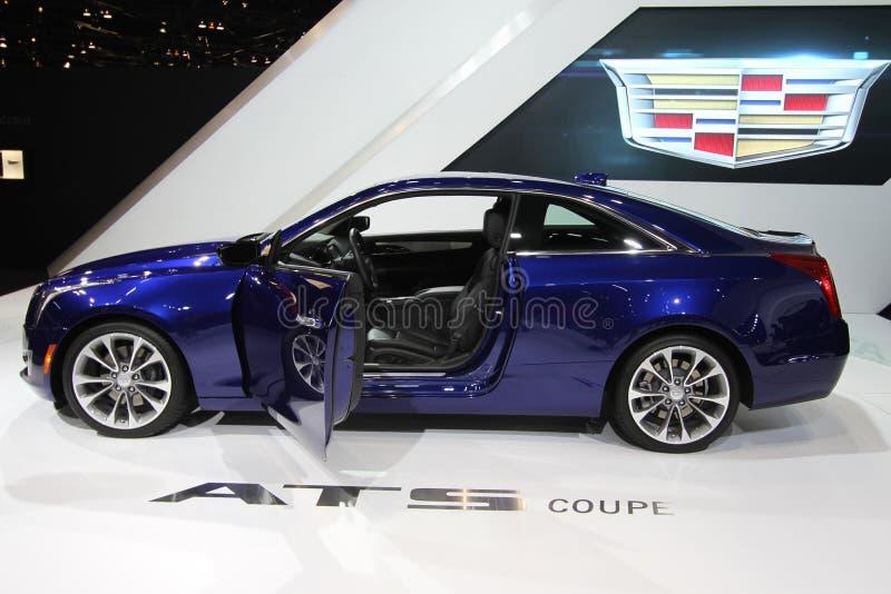 Ny Cadillac ATS-kupé 2014 royaltyfri foto
