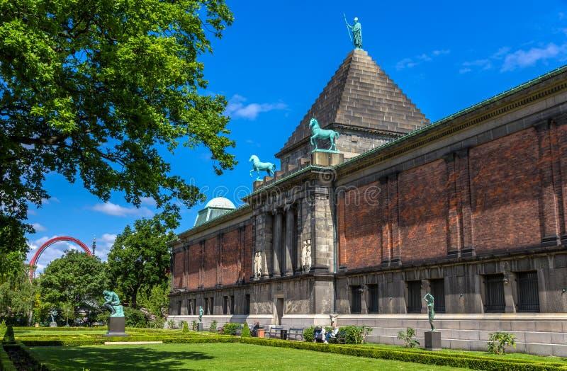Ny Carlsberg Glyptotek, een kunstmuseum in Kopenhagen royalty-vrije stock foto's