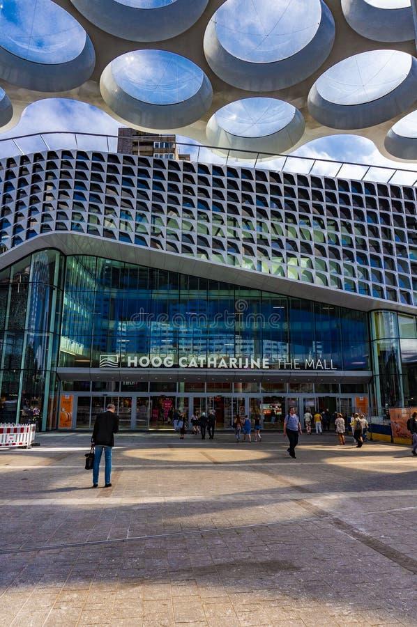 Ny centralstation i Utrecht, Nederl?nderna royaltyfri fotografi