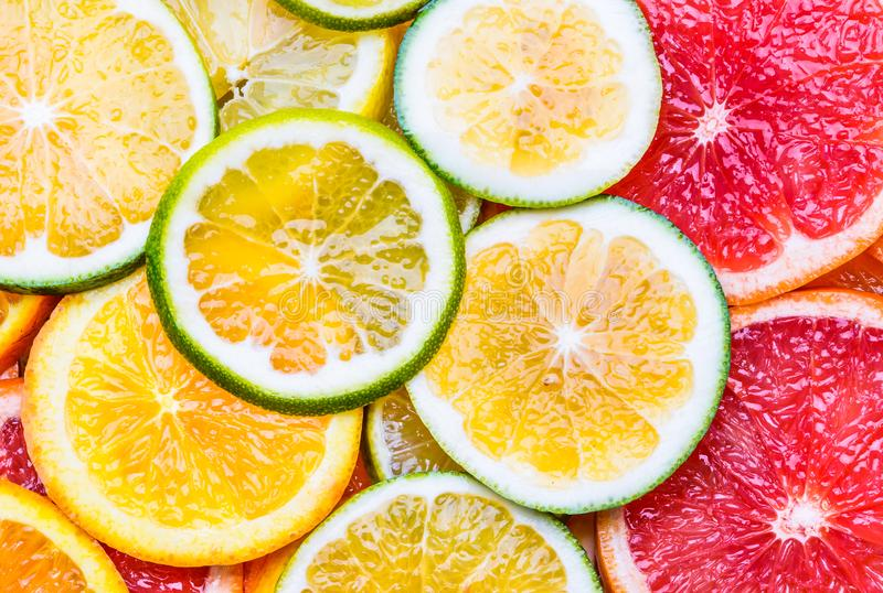 Ny citrusfruktbakgrund arkivbild