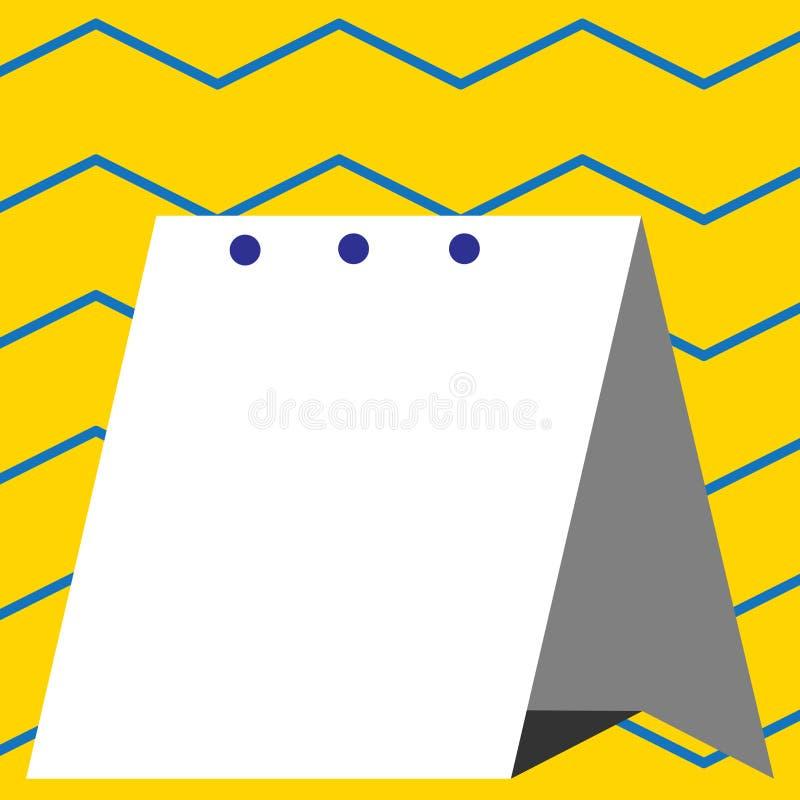 Ny design av scheduleren genom att anv?nda h?rt pappers- material Styvt ark vikt f?r modern tabellkalendermodell enkelt royaltyfri illustrationer