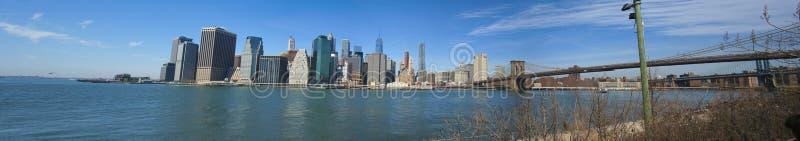 Ny een brug van Brooklyn stock afbeelding