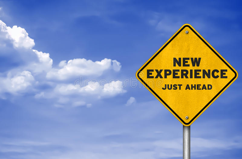 Ny erfarenhet stock illustrationer