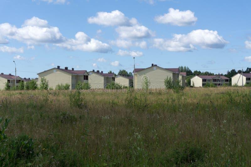 Ny förorts- lott för luft för husgrannskapgata, royaltyfria foton
