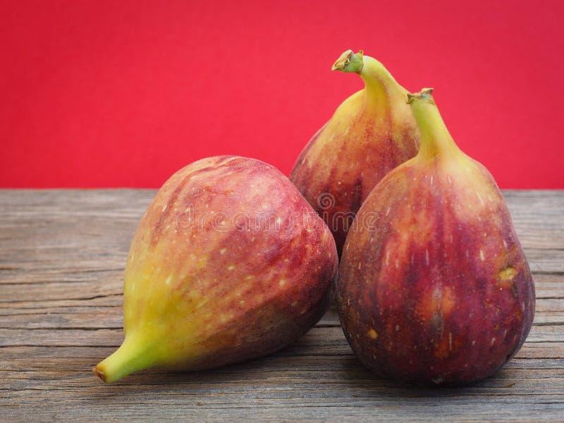 Ny fikonträdfrukt på trägamla bräden royaltyfri bild