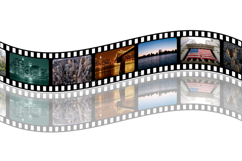 NY-filmstrip vector illustratie