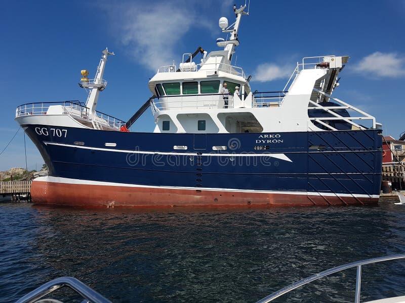 Ny fishingboat arkivfoton
