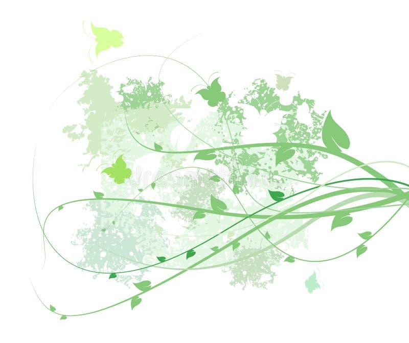 ny fjäder för abstrakt bakgrund stock illustrationer