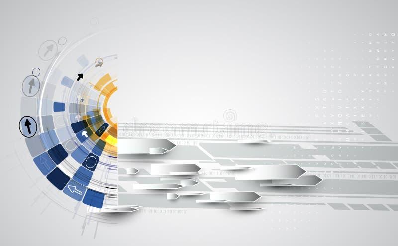 Ny framtida bakgrund för teknologibegreppsabstrakt begrepp vektor illustrationer