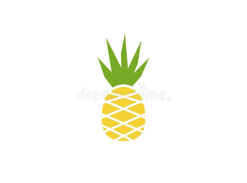 Ny frukt för Ananas för logo stock illustrationer