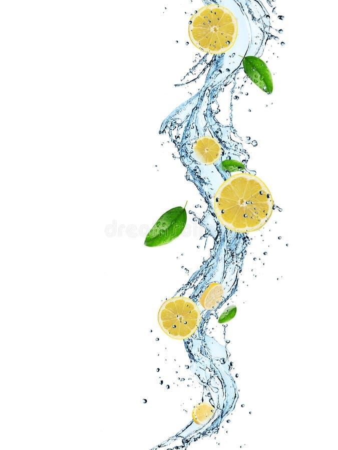Ny frukt med vattenfärgstänk arkivfoto