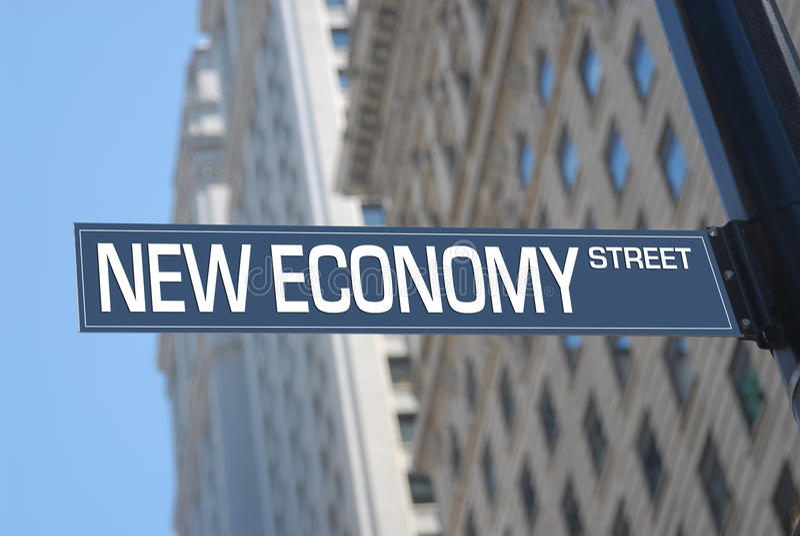 ny gata för ekonomi arkivfoton