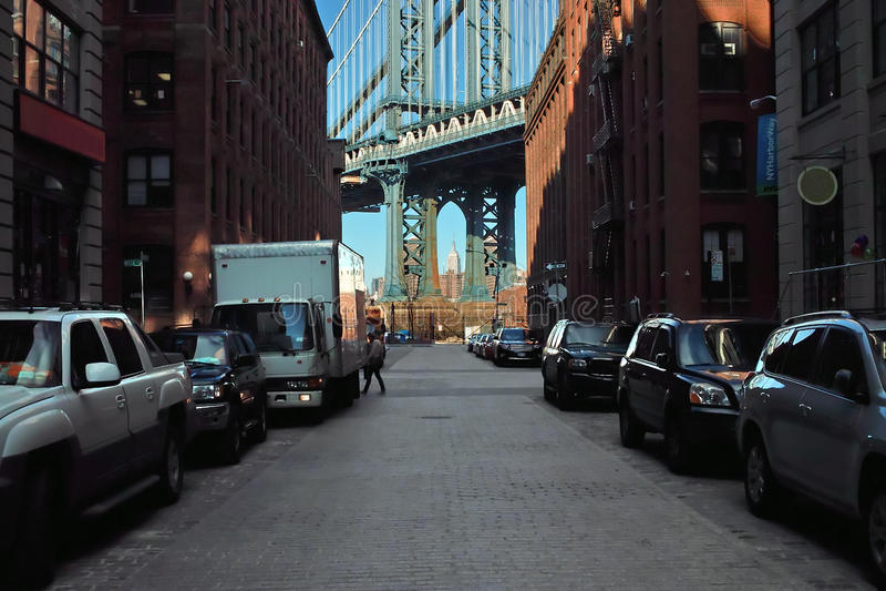 ny gata washington york för dumbo arkivfoton