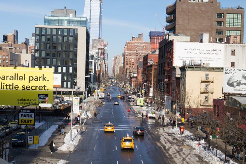 ny gatasikt york för stad arkivfoton