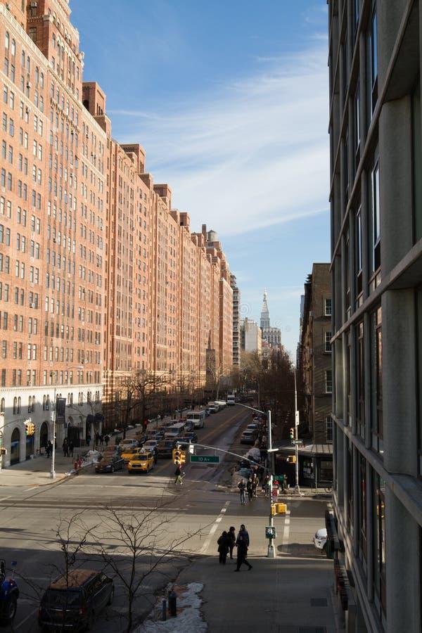 ny gatasikt york för stad arkivfoto