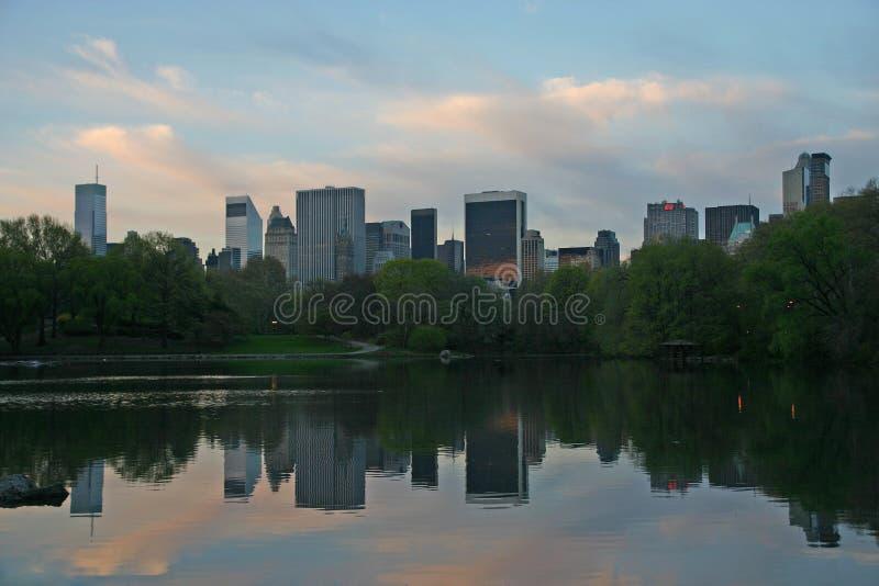 NY gebouwen van Central Park stock fotografie