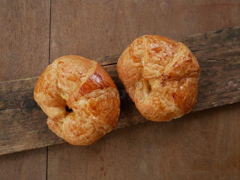 Ny giffel, hemlagat frukostslut upp bröd royaltyfri bild