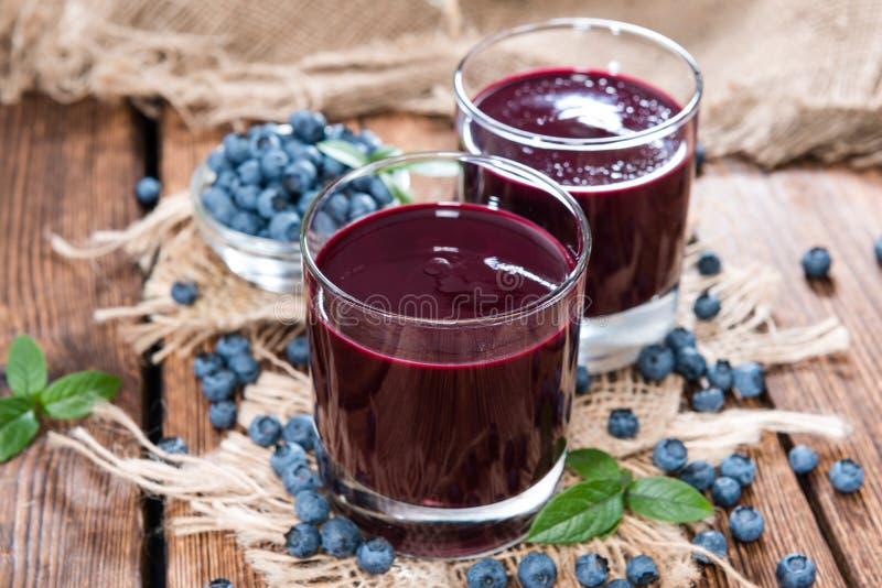 Ny gjord blåbärfruktsaft fotografering för bildbyråer