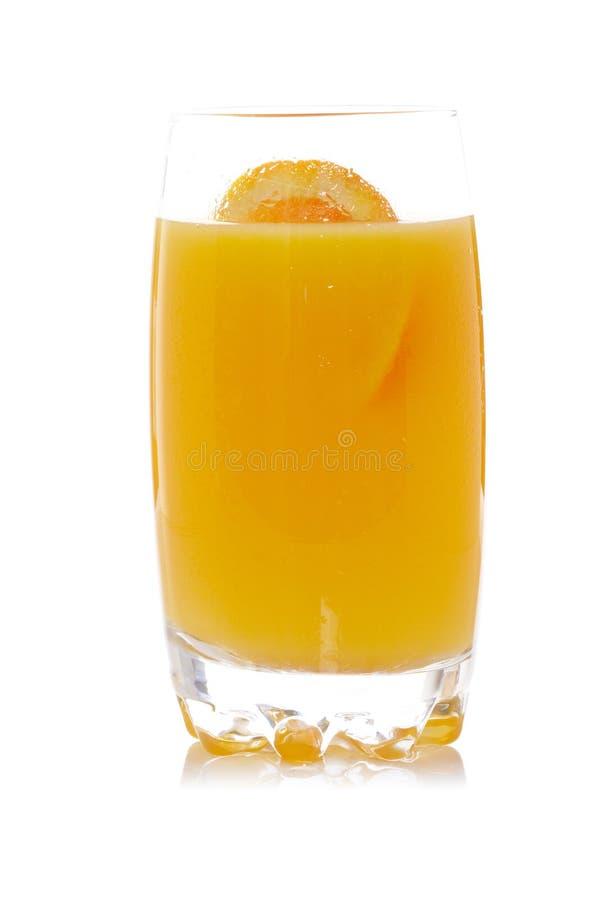 ny glass fruktsaftorange arkivbild