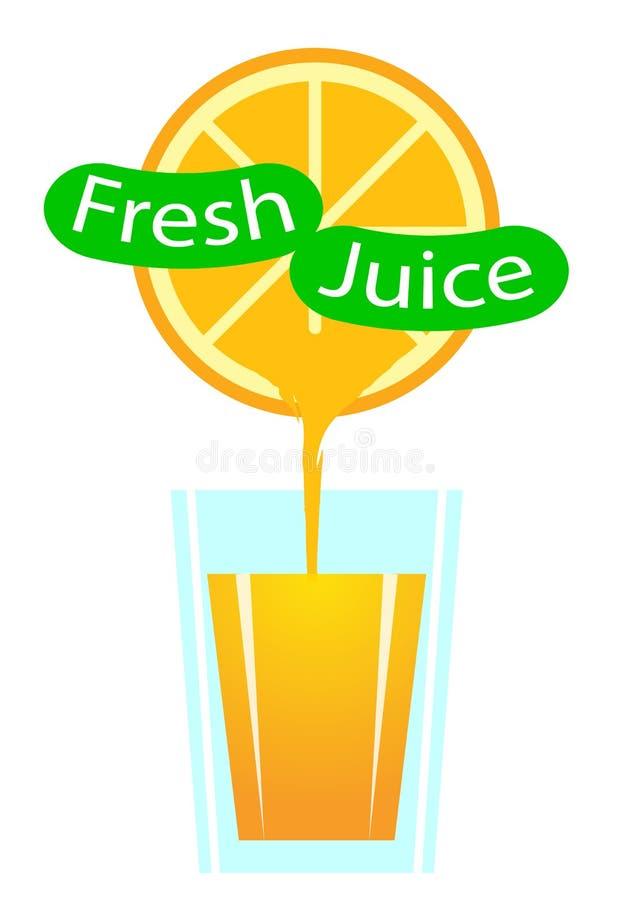 ny glass fruktsaftorange vektor illustrationer