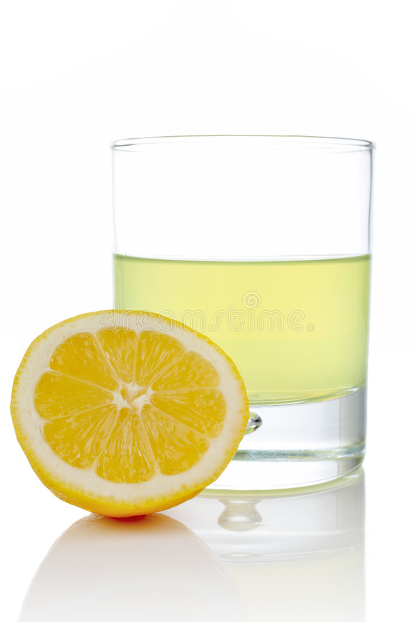 ny glass half citron arkivbilder