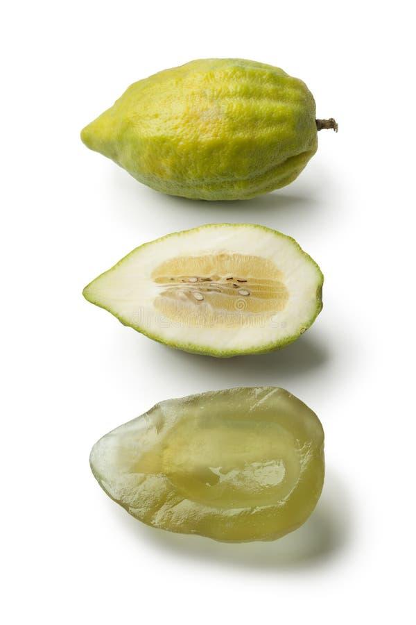 Ny grön citrus medica och succade arkivbilder