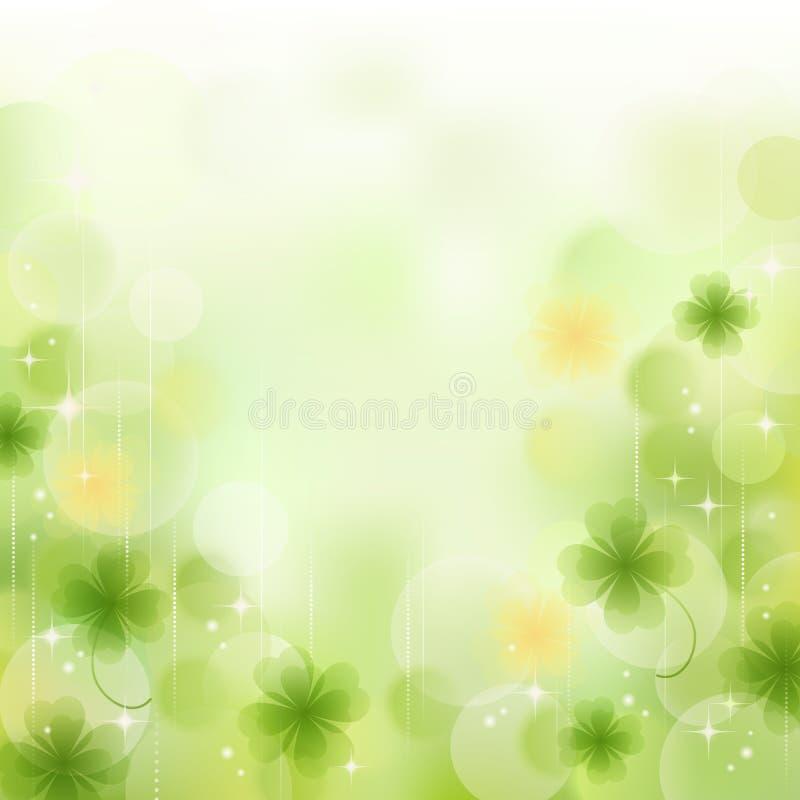 Ny grön växt av släkten Trifoliumbakgrund stock illustrationer
