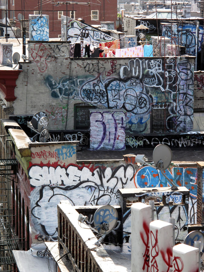 Ny graffiti stock afbeelding