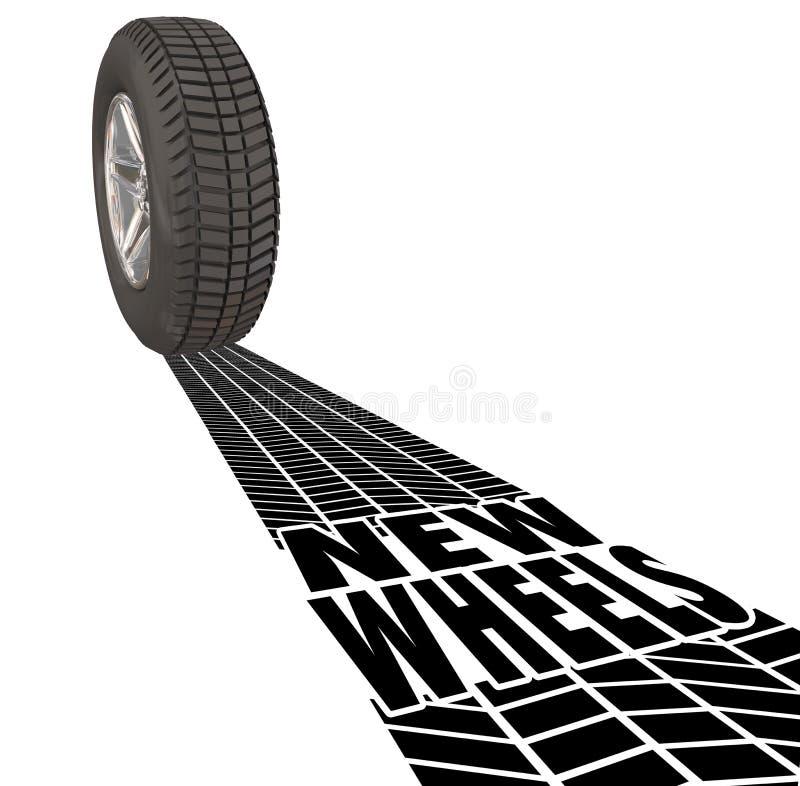 Ny granskning för förbättring för produkt för medel för spår för hjulbilgummihjul vektor illustrationer