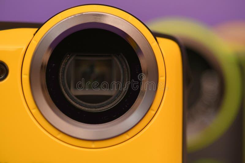 ny gul detalj för kameralins arkivfoton