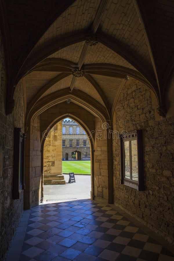 Ny högskola Oxford royaltyfria bilder