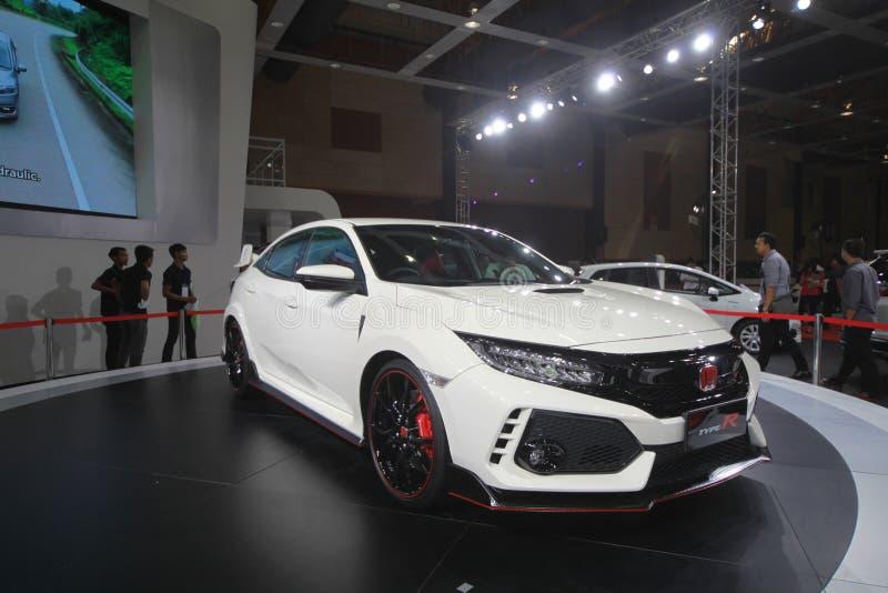 Ny Honda Civic TYP R som vars show på Malaysia bilautoshow 2017 arkivfoton