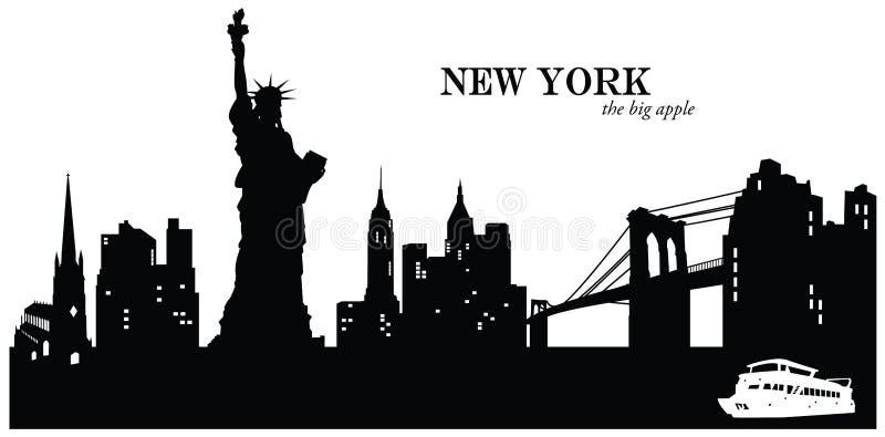 ny horisont york royaltyfri illustrationer