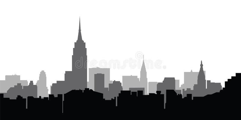 ny horisontvektor york för stad vektor illustrationer