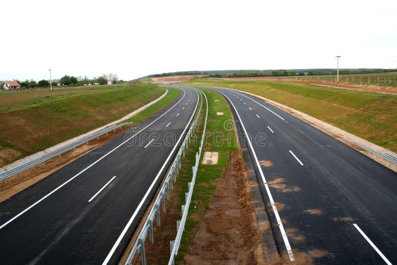 ny huvudväg arkivfoto