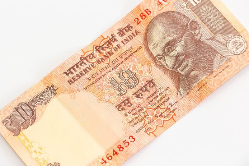 Ny indier 10 rupier sedel royaltyfri foto