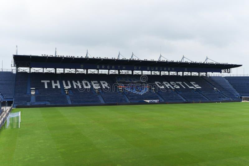 Ny Jag-mobil stadion i Buriram, Thailand royaltyfria foton