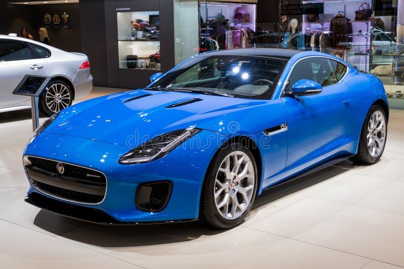 Ny Jaguar F-TYPE lyxsportbil 2018 royaltyfri fotografi