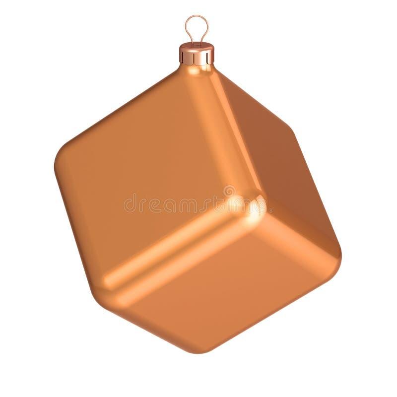 Ny jul för struntsak för helgdagsafton för YearÑ  s klumpa ihop sig icke-standard garnering för kuben vektor illustrationer