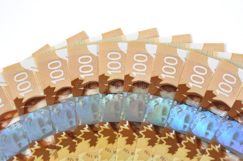 Ny kanadensare hundra bill royaltyfri foto