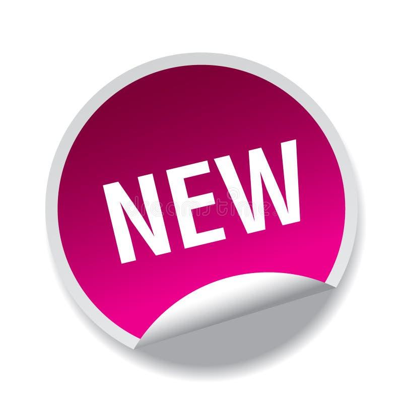 Ny klistermärke/stämpel stock illustrationer