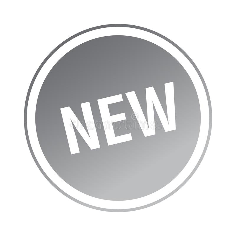 Ny klistermärke/stämpel royaltyfri illustrationer
